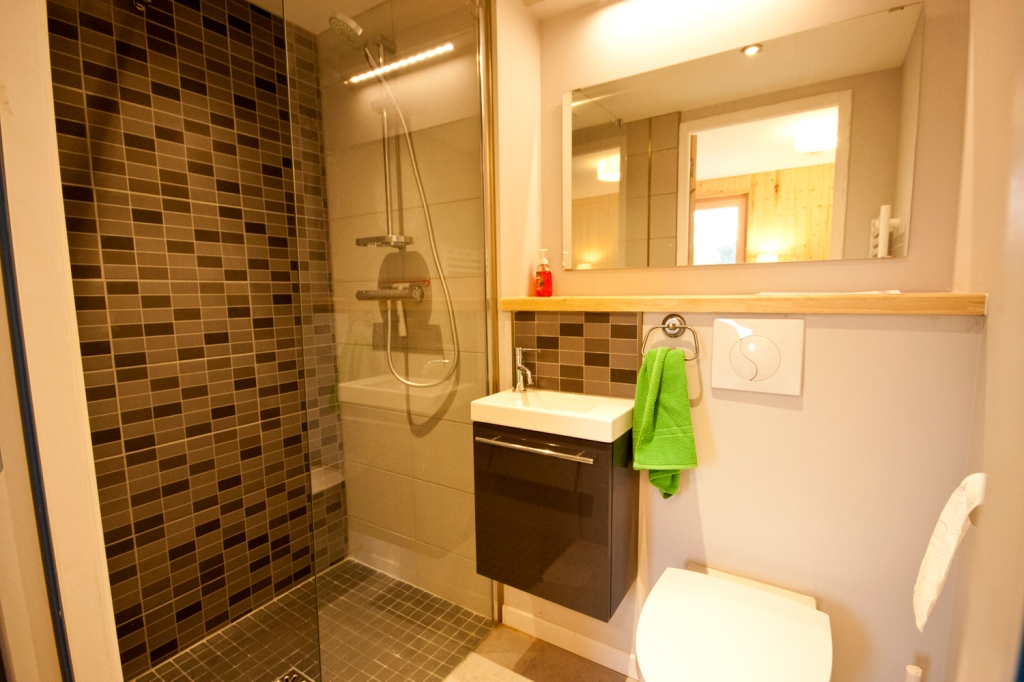 en-suite bathroom, La Maison Bois Charente, Montemboeuf, gite, holiday home, eco, timber